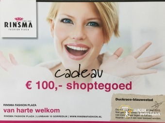 Rinsma fashion cheque twv € 100